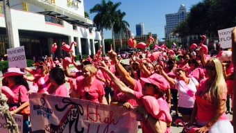 Glam Doll Strut turns Fort Lauderdale pink
