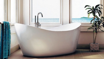 Designer sink, tub and faucet remodel ideas